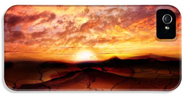 Dreamscape iPhone 5 Cases - Scorched Earth iPhone 5 Case by Photodream Art