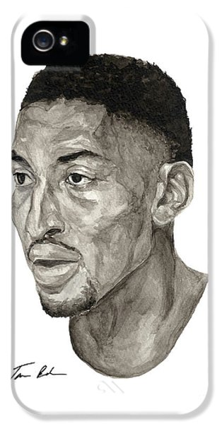 Pippen iPhone 5 Cases - Scottie Pippen iPhone 5 Case by Tamir Barkan