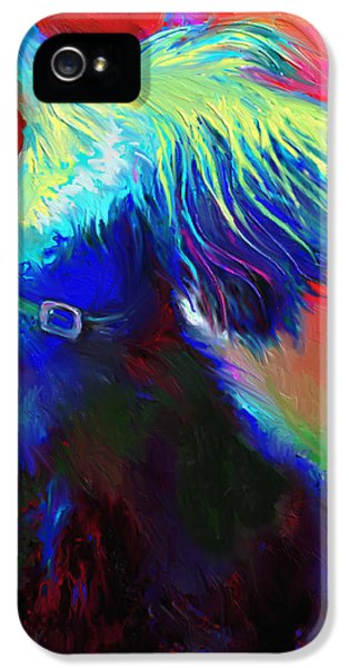 Gift iPhone 5 Cases - Scottish Terrier Dog painting iPhone 5 Case by Svetlana Novikova