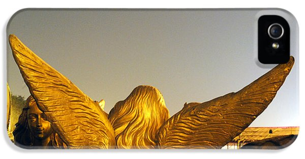 Greet iPhone 5 Cases - Sculpture of an angel iPhone 5 Case by Sumit Mehndiratta