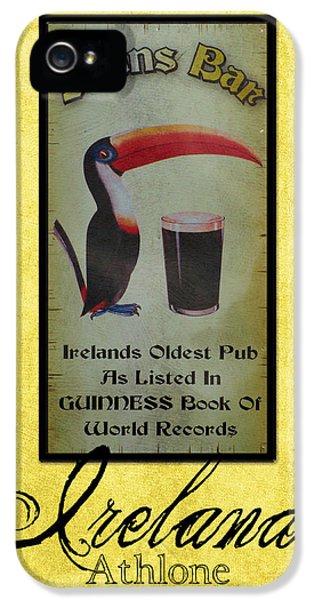Irish iPhone 5 Cases - Seans Bar Guinness Pub Sign Athlone Ireland iPhone 5 Case by Teresa Mucha