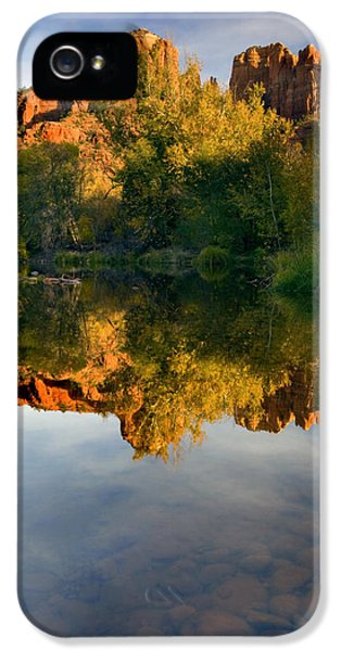 Reflection iPhone 5 Cases - Sedona Sunset iPhone 5 Case by Mike  Dawson