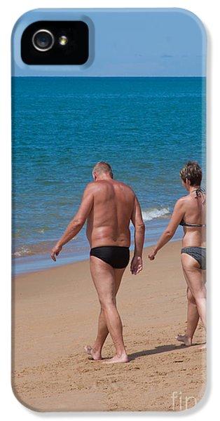 Husband iPhone 5 Cases - Senior Elderly  Lover Couple iPhone 5 Case by Atiketta Sangasaeng