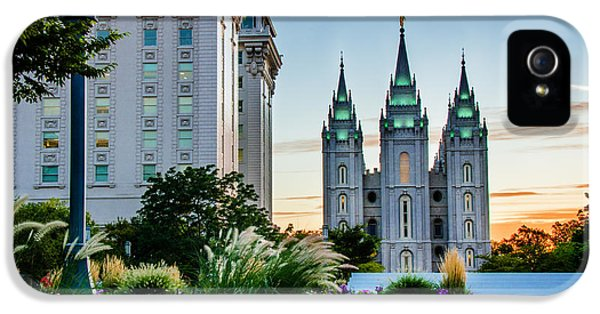 Slc iPhone 5 Cases - SlC Temple JS Building iPhone 5 Case by La Rae  Roberts