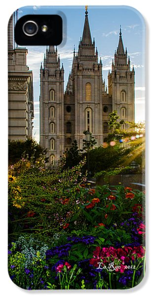 Slc iPhone 5 Cases - SLC Temple Sunburst iPhone 5 Case by La Rae  Roberts