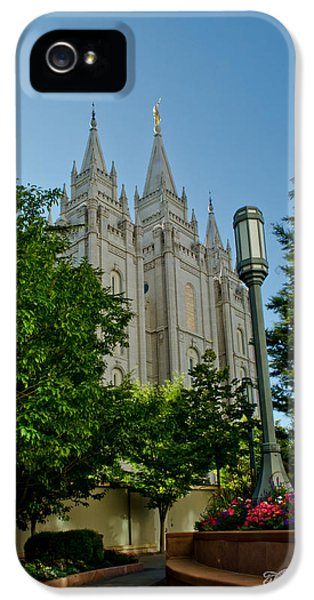 Slc iPhone 5 Cases - SLC Temple Walk iPhone 5 Case by La Rae  Roberts