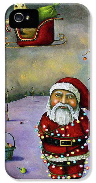 Bunny iPhone 5 Cases - Sleigh Jacker iPhone 5 Case by Leah Saulnier The Painting Maniac