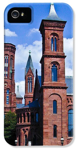 Smithsonian iPhone 5 Cases - Smithsonian Castle 2 iPhone 5 Case by Douglas Barnett