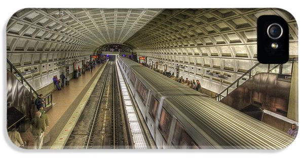 Smithsonian iPhone 5 Cases - Smithsonian Metro Station iPhone 5 Case by Shelley Neff