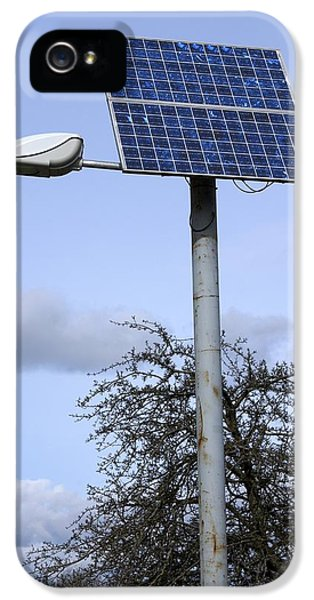 Technological iPhone 5 Cases - Solar Powered Street Light, Uk iPhone 5 Case by Mark Williamson