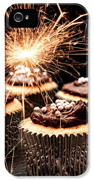 Firework iPhone 5 Cases - Sparkler Cupcakes iPhone 5 Case by Amanda And Christopher Elwell