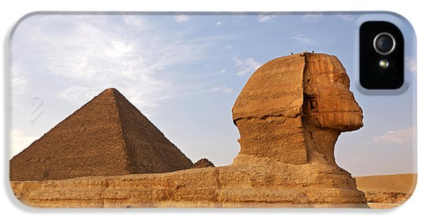 Archeology iPhone 5 Cases - Sphinx of Giza iPhone 5 Case by Jane Rix