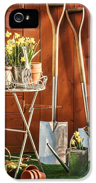 Potting Shed iPhone 5 Cases - Spring Gardening iPhone 5 Case by Amanda And Christopher Elwell