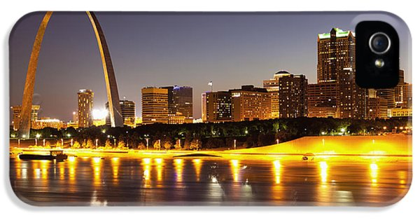 City Scene iPhone 5 Cases - St Louis Skyline iPhone 5 Case by Bryan Mullennix