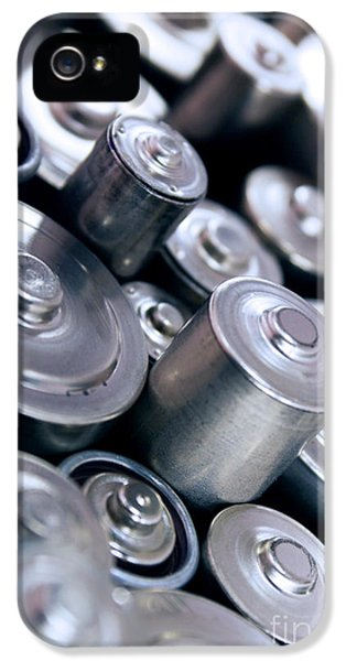 Electronic iPhone 5 Cases - Stack Of Batteries iPhone 5 Case by Carlos Caetano
