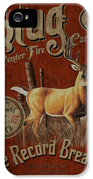 Guns iPhone 5 Cases - Stag Record Breaker Sign iPhone 5 Case by JQ Licensing