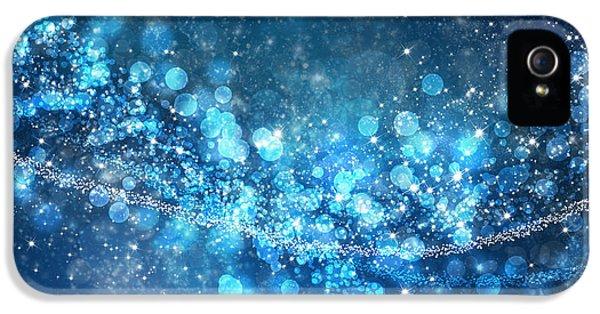 Space iPhone 5 Cases - Stars And Bokeh iPhone 5 Case by Setsiri Silapasuwanchai