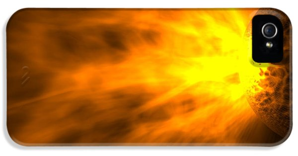 Astrophysics iPhone 5 Cases - Stellar Flare iPhone 5 Case by Roger Harris