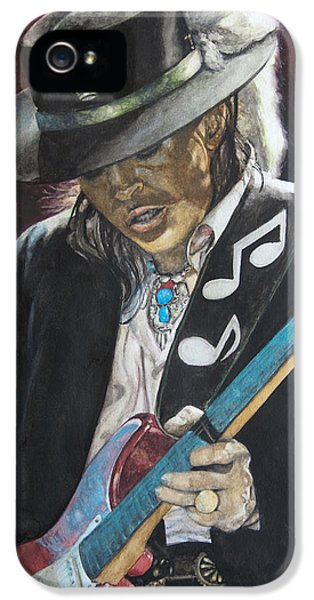 Music Legend iPhone 5 Cases - Stevie Ray Vaughan  iPhone 5 Case by Lance Gebhardt