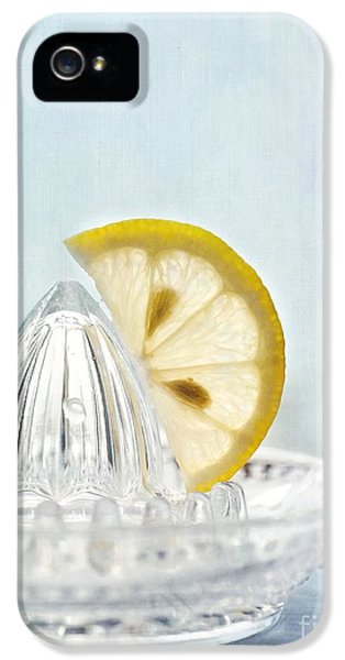 Still Life With A Half Slice Of Lemon IPhone 5 / 5s Case by Priska Wettstein