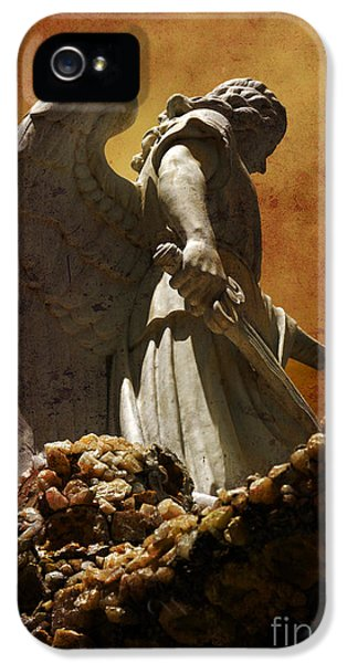Angel iPhone 5 Cases - STOP in the name of God iPhone 5 Case by Susanne Van Hulst