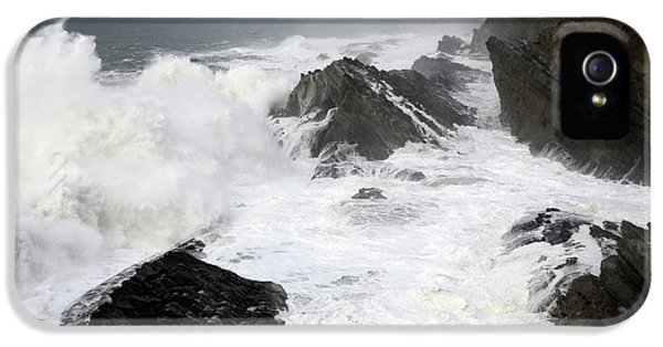 Shore Acres iPhone 5 Cases - Storm on the Oregon Coast iPhone 5 Case by Bob Christopher