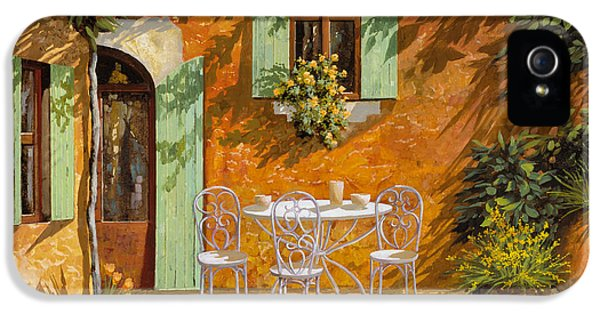 Chair iPhone 5 Cases - Sul Patio iPhone 5 Case by Guido Borelli