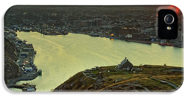 Nl iPhone 5 Cases - Sunset on St. Johns Harbour iPhone 5 Case by Phill  Doherty