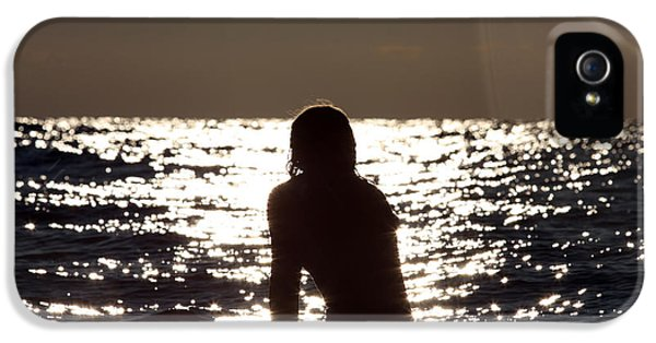 Patiently iPhone 5 Cases - Surfer girl waiting for a wave iPhone 5 Case by Christopher Purcell