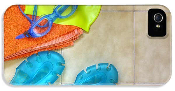 Plastic iPhone 5 Cases - Swimming gear iPhone 5 Case by Carlos Caetano
