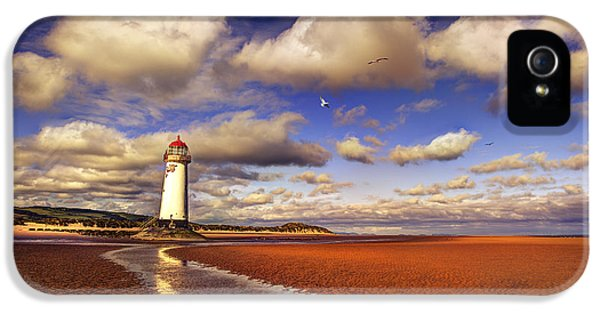 Lighthouse iPhone 5 Cases - Talacre Lighthouse iPhone 5 Case by Mal Bray