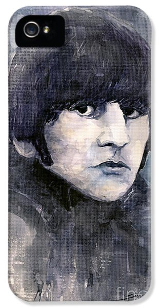 Ringo Starr iPhone 5 Cases - The Beatles Ringo Starr iPhone 5 Case by Yuriy  Shevchuk