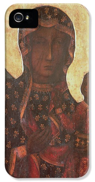 Family iPhone 5 Cases - The Black Madonna of Jasna Gora iPhone 5 Case by Russian School