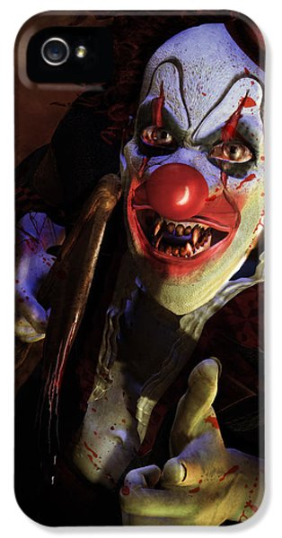 Horror iPhone 5 Cases - The Clown iPhone 5 Case by Karen H