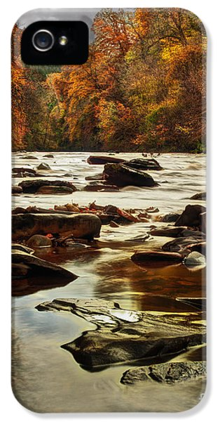 Point Of View iPhone 5 Cases - The Fall on the River Avon  iPhone 5 Case by John Farnan