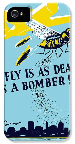 Diseased iPhone 5 Cases - The Fly Is As Deadly As A Bomber iPhone 5 Case by War Is Hell Store