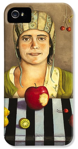 Oddities iPhone 5 Cases - The Fruit Collector 2 iPhone 5 Case by Leah Saulnier The Painting Maniac