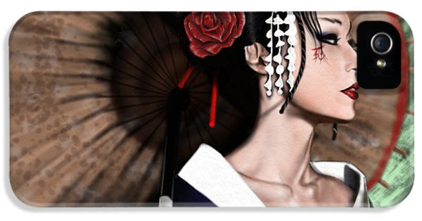 Lady iPhone 5 Cases - The Geisha iPhone 5 Case by Pete Tapang