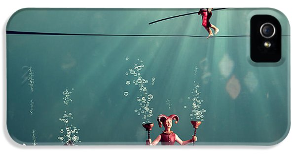 Underwater iPhone 5 Cases - The Secret Venetian Circus iPhone 5 Case by Martine Roch