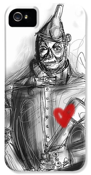 Smiling iPhone 5 Cases - The Tin Man iPhone 5 Case by Russell Pierce