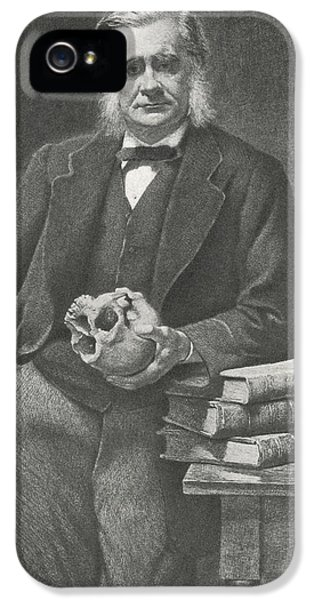 Huxley iPhone 5 Cases - Thomas Huxley, British Biologist iPhone 5 Case by Science, Industry & Business Librarynew York Public Library