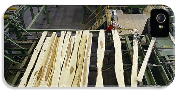 Automation iPhone 5 Cases - Timber Coming From A Saw Line At Sawmill iPhone 5 Case by Ria Novosti