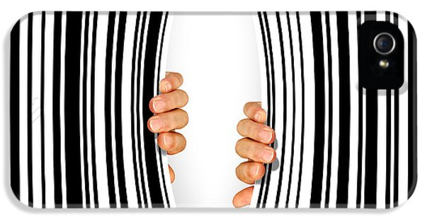 Credit iPhone 5 Cases - Torn Bar Code iPhone 5 Case by Carlos Caetano