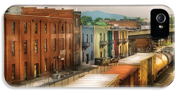 Msavad iPhone 5 Cases - Train - Yard - Train Town iPhone 5 Case by Mike Savad