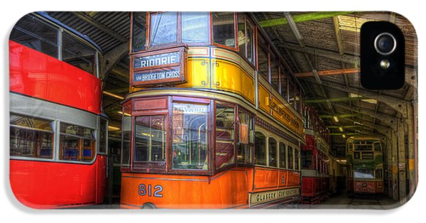 Old Tram iPhone 5 Cases - Tram 812 Glasgow Corporation iPhone 5 Case by Yhun Suarez