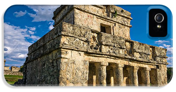 Archeology iPhone 5 Cases - Tulum Temple iPhone 5 Case by Meirion Matthias