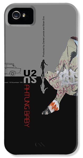 U2 Poster IPhone 5 / 5s Case by Naxart Studio