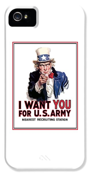 Americans iPhone 5 Cases - Uncle Sam -- I Want You iPhone 5 Case by War Is Hell Store