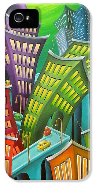 Whimsy iPhone 5 Cases - Urban Vertigo iPhone 5 Case by Eva Folks