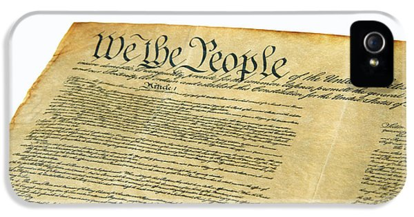 Us Constitution iPhone 5 Cases - U.s Constitution iPhone 5 Case by Photo Researchers, Inc.